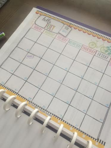 My calendar - its mostly empty still!